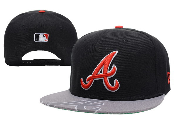 Atlanta Braves Black Snapback Hat XDF 0512